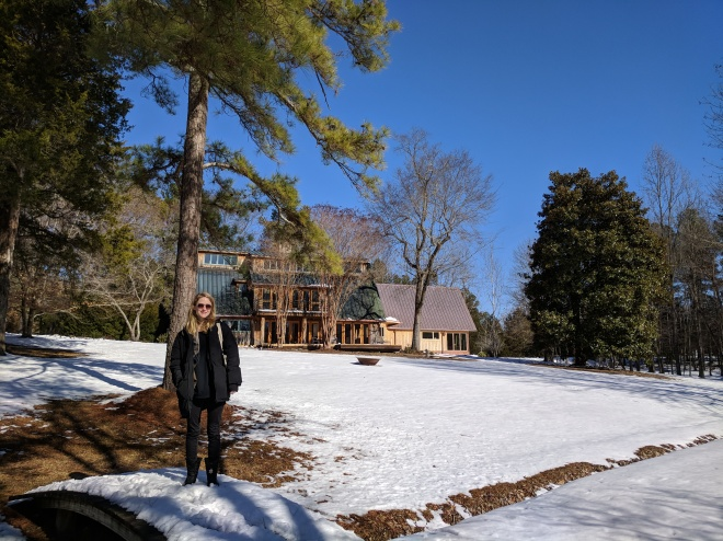Sunny Snow Day, North Carolina