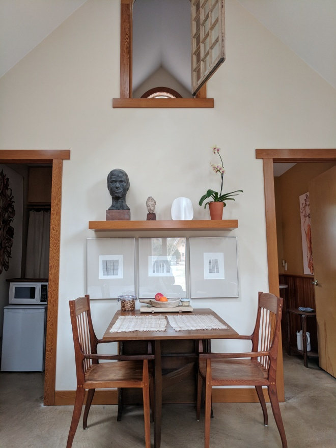 Tiny House North Carolina, Interior Breakfast Table