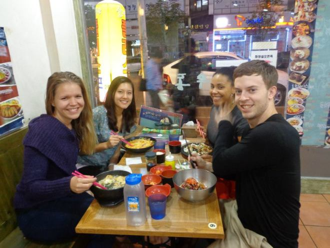 Korean Restaurant, Dining with Teacher Friends