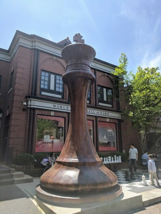 Chess Hall of Fame King Monument